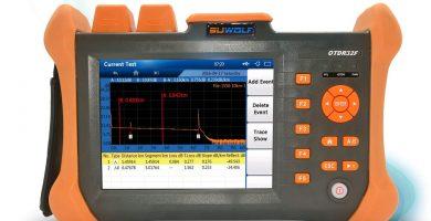 fusionadora de fibr aoptica suwolf 1310 1550 nm 5.6 pulgadas